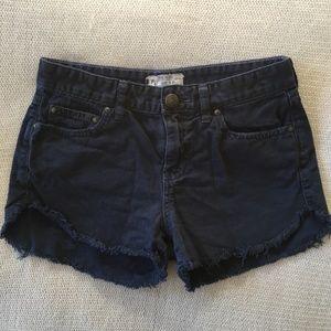 SALE 🚨 | Free People Dark Blue Distressed Shorts